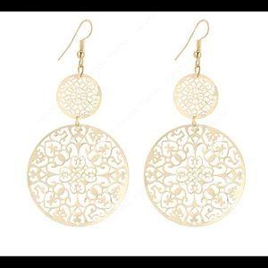 Jewelry - Dangle Long Earrings Medallion